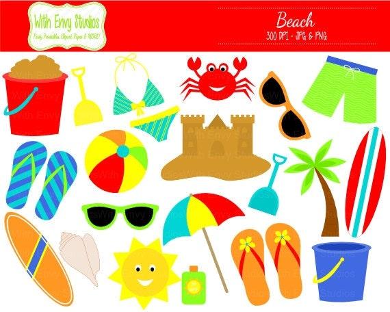 Items similar to 50% OFF Beach Digital Clipart - Beach ...