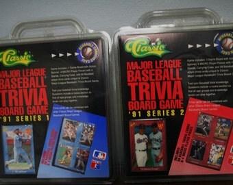 Baseball-1991 Series 1 & 2-Classic Major Baseball Trivia Games-Never Opened