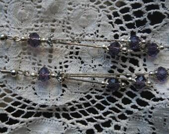 Pretty purple dangle earrings
