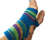 Hand Knit Yoga Socks - Pilates Sox - PiYo Sox - Dance Socks - Pedicure Sox - Flip-flop Socks - Unique Original Design - MADE to ORDER - LizSox