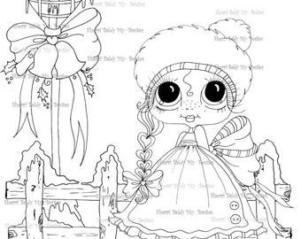 INSTANT DOWNLOAD Digi Stamps Big Eye Big Head Dolls Digi Bestie IMG100011 By Sherri Baldy