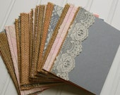 Burlap and Lace Wedding Programs: Handmade Sewn Programs for Shabby Chic or Rustic Wedding
