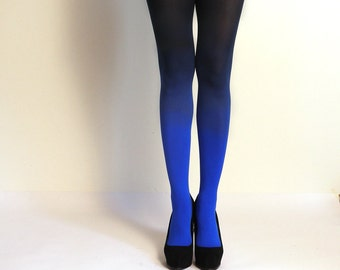 "Ombre Tights.  Blue/black  - as seen on ""Today Show"""