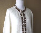 Vintage Handknit Alpaca Knit Cardigan Sweater
