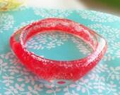 Strawberry Resin Bangle