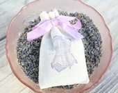 Set of 6 Lavender Corset Sachet Birdesmaid Bridal Shower Thank You Favors