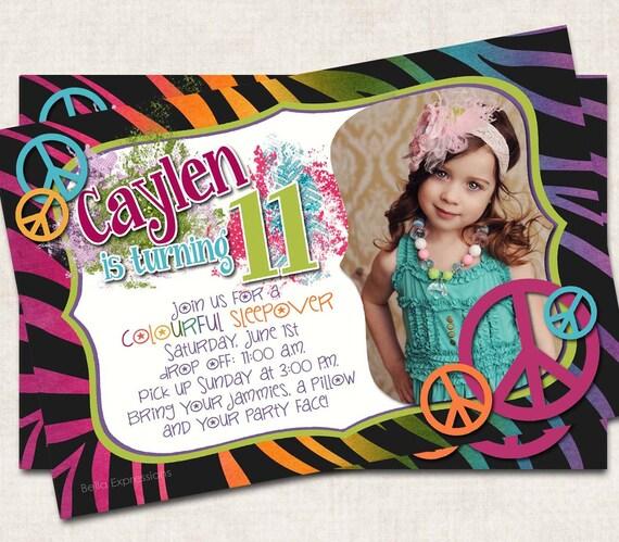 Crazy Zebra Birthday Party Invitation Pink By