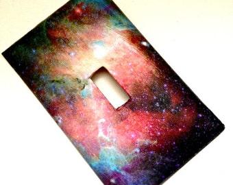 Single Light Switch Plate Cover--Galaxy //  Space //  Celestial //  Stars // Universe // Nebula