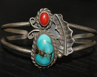 OLD PAWN NAVAJO Morenci Cuff Sterling c1950