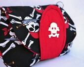 Pirate clutch, skeleton clutch, Halloween clutch, snap clutch, fall clutch, wristlet, clutch bag, clutch purse, clutch wallet, skull clutch