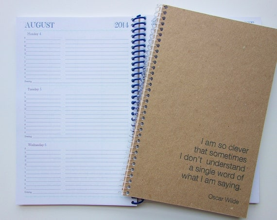 Custom Quote 2014 Weekly & Monthly Planner
