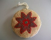 Christmas Star Flower Punch Needle ornament