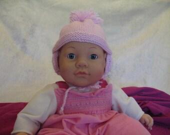Pastel Pink Baby Hat