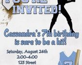 Softball Birthday Party Invitation