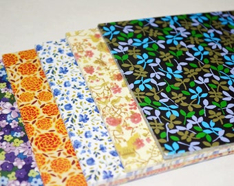 Gorgeous Romantic Floral Origami Square Paper Pack for Origami Paper Project - 100 sheets