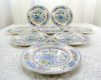 Vintage Mason's Regency Plantation Colonial small bread and butter plates set of eight