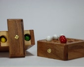 Handmade Wooden Travel Tic Tac Toe Game