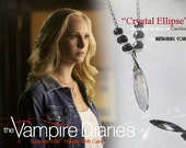"""As seen on The Vampire Diaries the """"Crystal Ellipse"""" necklace - made to order"""