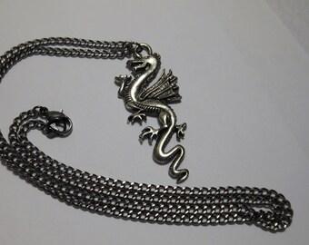 Dragon Pendant on Gunmetal chain