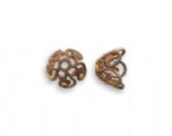Vintaj 7.5mm Ornate Bead Cap (6)