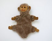 Made in England By Norah Wellings Monkey Puppet, Antique Stuffed Monkey Puppet, Antique Hand Puppet, Norah Wellings Cloth Doll, Antique Toy