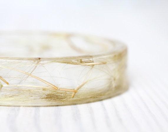 Dandelion bracelet - Epoxy resin bracelet - Real flower Bracelet