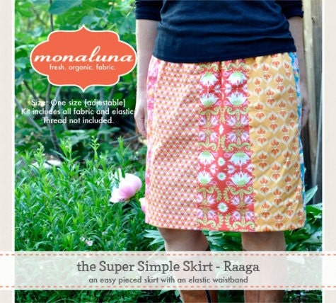 Monaluna Raaga Super Simple Skirt Kit Comes With Pattern And