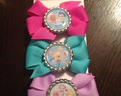 Bubble Guppies Inspired Bow Set, party favors, hair bow gift sets