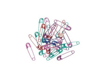 """3/4"""" Multi-Colored Safety Pins (60pc)"""