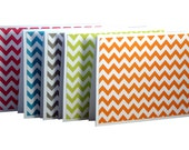 Chevron Note Cards, Chevron Note Set, Handmade Note Cards