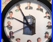 Dr Who Doctor wall clock - 9 inch diameter