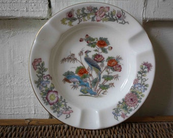 Vintage ash tray, Wedgwood, Kutani Crane, bone china, Made in England