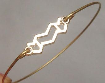 Aquarius Style 4-personalized Zodiac Constellation bangle bracelet-January February Birthday