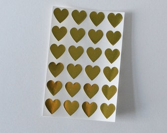 Heart Stickers Gold Heart Stickers Envelope Seals 108 Gold Foil Seals Wedding Stickers Wedding Seals