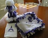 Paris Theme - Purple and White Poodle Set