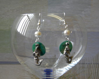 Freshwater Pearl Shell Mermaid Earrings