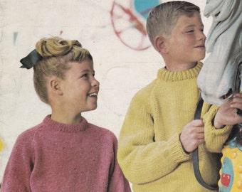 Villawool Designs for Children Knitting Pattern No 104  Vintage 1960s