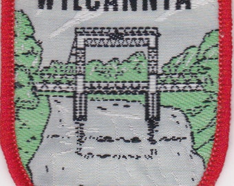 Vintage Souvenir cloth patch of Wilcannia New South Wales