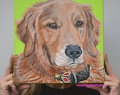 Golden Retriever Pet Portrait Golden Retriever art Custom paintingOriginal dog paintings Dog Art Paintings from Photo's Pop Art Pet Portrait