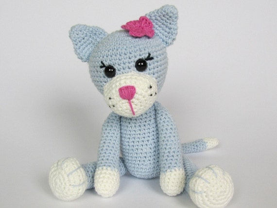 Free Little Kitty Cat Amigurumi Crochet Pattern And Tutorial : Kitty Ela Amigurumi Crochet Pattern / PDF e-Book / Stuffed
