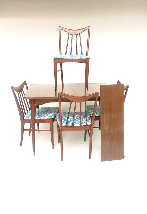 RESERVE for goldstein Mid Century Dining Table Chairs FOUR
