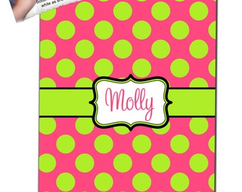 Personalized Polka Dot  Fleece Blanket- Many Colors!