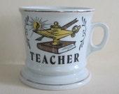 Vintage Teacher Mug with gold details by Knobler in Japan