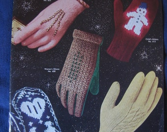 Vintage Mittens Patterns Knitting Instructions Booklet Gloves and Mittens for the Family Published in 1943