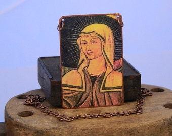 Saint Jewelry Saint Necklace Saint Rita Patron Saint of Abused Women