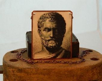 Thales jewelry Greek Philosopher jewelry mixed media jewelry