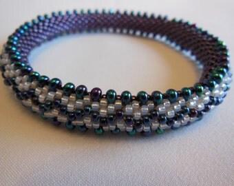 Bead Crochet Bangle - Double Dropped Zig-Zag