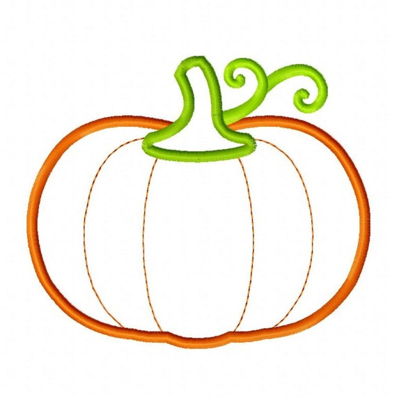 Pumpkin applique embroidery design by