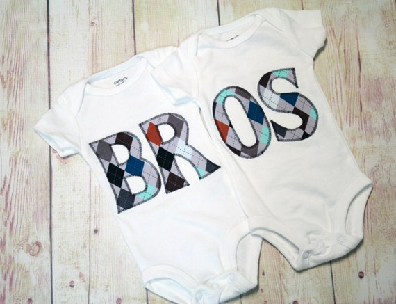 Matching Twin Set / Brothers Bodysuits / Little Brother Shirt