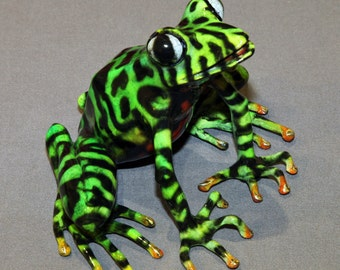 """Frog Bronze """"Darcy Frog"""" BRONZE FROG Statue Figurine Amphibian Art / Limited Edition / Signed & Numbered"""
